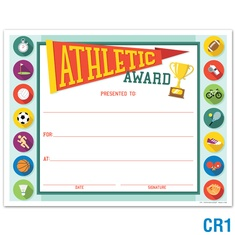 Athletic Award: click to enlarge
