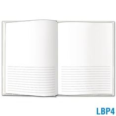 Blank Book Large - 1/2 Blank & 1/2 Solid-Lined Pages: click to enlarge