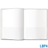 Blank Book Large - 1/2 Blank & 1/2 Solid-Lined Pages